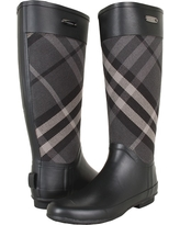 Burberry - Check Panel Rainboots (House Check) Women's Rain Boots