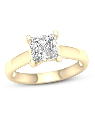 Jared Diamond Solitaire Ring 2 ct tw Princess-cut 14K Yellow Gold