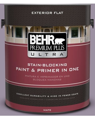 BEHR ULTRA 1 gal. #660F-5 Amethyst Phlox Flat Exterior Paint and Primer in One
