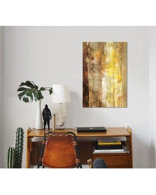 """East Urban Home 'Golden Glow I' Watercolor Painting Print on Wrapped Canvas ESUH7465 Size: 40"""" H x 26"""" W x 0.75"""" D"""