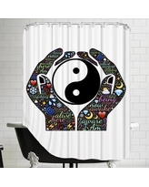 East Urban Home Yin And Yang Symbol Hands Shower Curtain ESRB6089