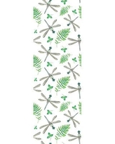 "Bungalow Rose Marcela Removable Dragonfly Palm Leaves Nursery 4.17' L x 25"" W Peel and Stick Wallpaper Roll CJ293607"