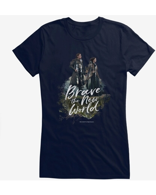 Outlander Jamie Claire Brave New World Poster Girls T-Shirt