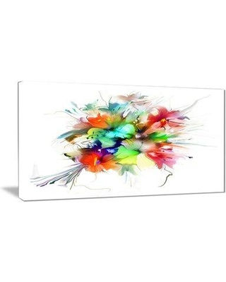 """East Urban Home 'Summer Flowers in Different Colors' Graphic Art Print on Canvas EAAE8143 Size: 32 """" W x 16 """" H"""