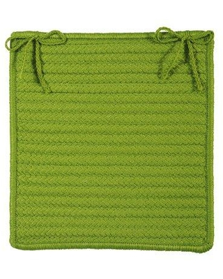 Charlton Home Glasgow Square Indoor/Outdoor Braided Chair Pad (Set of 4) CHLH5462 Color: Bright Green