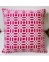 Artisan Pillows Vivid Lattice Indoor Cotton Throw Pillow MO-016-01 / MO-008-01 Color: Fuchsia/Hot Pink