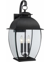 Quoizel Bain Mystic Black Large Outdoor Wall Lantern