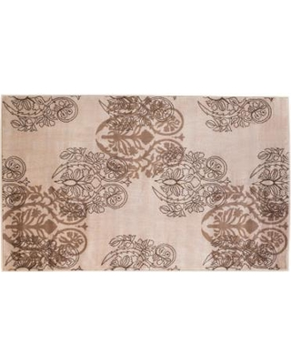 Linon Milan Scroll Rug, White, 2X3 Ft