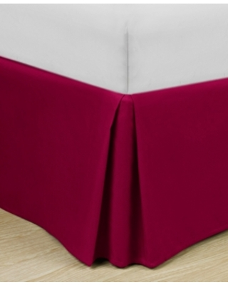 """Home Basic Easy Fit Microfiber Pleated 14"""" Drop Queen Bedskirt Bedding"""