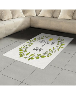 Queen Green Area Rug East Urban Home Rug Size: Rectangle 4' x 5'8""