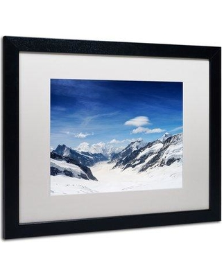 "Trademark Fine Art 'Distances' by Philippe Sainte-Laudy Framed Photographic Print PSL0301-B1 Matte Color: White Size: 16"" H x 20"" W"