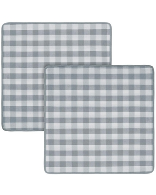 ACHIM Buffalo Check Grey Woven 18 in. x 18 in. Throw Pillow Covers (Set of 2)