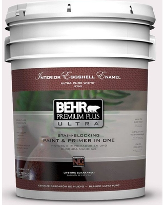 BEHR Premium Plus Ultra 5 gal. #680C-1 Wispy Pink Eggshell Enamel Interior Paint and Primer in One