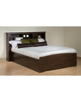 Prepac Full Mate's Platform Storage Bed with 6 Drawers, Espresso