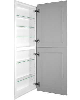Wg Wood Products Silverton 14 in. x 44 in. x 4 in. Frameless Recessed Medicine Cabinet/Pantry