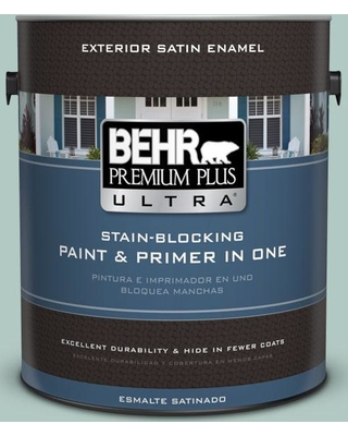 BEHR ULTRA 1 gal. #S430-2 Fresh Tone Satin Enamel Exterior Paint and Primer in One