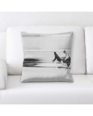The Best Sales For Blurred Out Throw Pillow East Urban Home