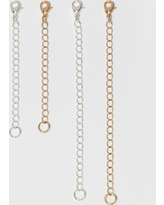Chain Extenders For Necklace 4pc - A New Day Silver/Gold