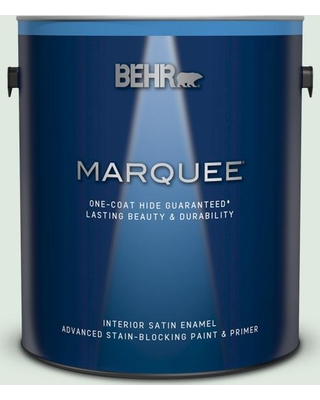 BEHR MARQUEE 1 gal. #440E-1 Relaxing Green Satin Enamel Interior Paint & Primer