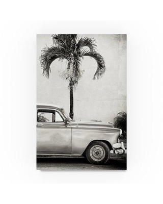 """Trademark Fine Art 'American Classic Car III' Photographic Print on Wrapped Canvas PH01233-C Size: 32"""" H x 22"""" W"""