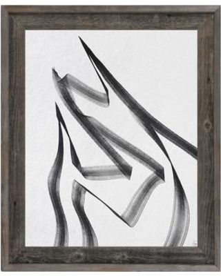 """Click Wall Art 'Portrait Fissure Base' Framed Graphic Art BKW0000068FRA Size: 23.5"""" H x 19.5"""" W"""
