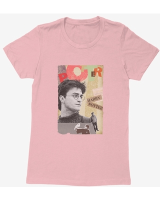Harry Potter Hedwig And Potter Collage Womens T-Shirt