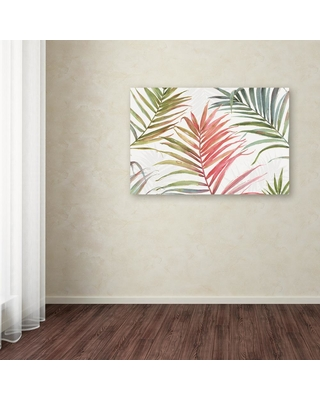 """Trademark Fine Art 22 in. x 32 in. """"Tropical Blush IV"""" by Lisa Audit Printed Canvas Wall Art, Multi"""