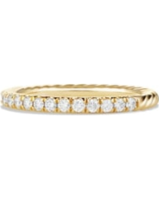 Women's David Yurman 'Cable' Ring With Diamonds In 18K Gold