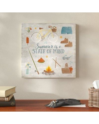 "Millwood Pines 'Summer Sunshine I' Graphic Art Print on Wrapped Canvas MIPN1268 Size: 14"" H x 14"" W"
