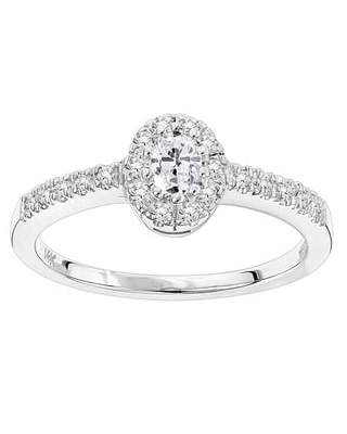 Luxurman 14k Gold 1/2ct TDW Diamond Unique Engagement Ring (White - 4.5)