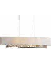 "Hubbardton Forge Oceanus 42"" Wide LED Gold Linear Pendant"