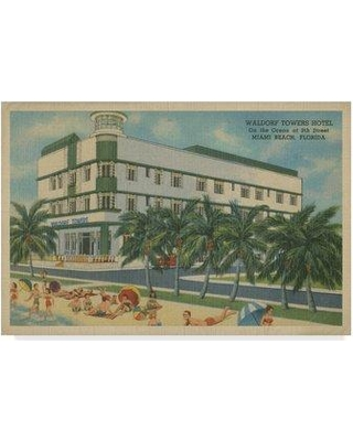 "Bay Isle Home 'Miami Beach V' Graphic Art Print on Wrapped Canvas BYIL6007 Size: 22"" H x 32"" W x 2"" D"