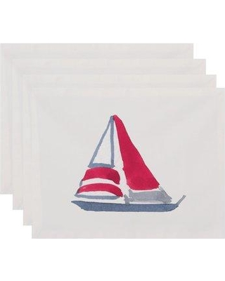 """Breakwater Bay Harriet Sail Away 18"""" Placemat BKWT4697 Color: Ivory"""
