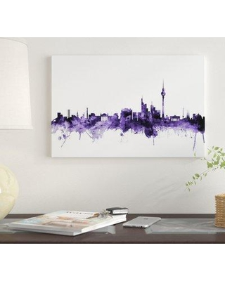 """East Urban Home 'Berlin Germany Skyline' by Michael Tompsett Graphic Art Print on Wrapped Canvas EUME4968 Size: 40"""" x 60"""" x 1.5"""""""