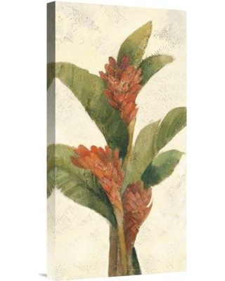 """East Urban Home 'Ginger Blossom on White' Print EUHE2206 Size: 24"""" H x 12"""" W Format: Wrapped Canvas Matte Color: No Matte"""