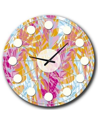 East Urban Home Oversized Floral III Mid-Century Wall Clock FCJG0047 Size: Small