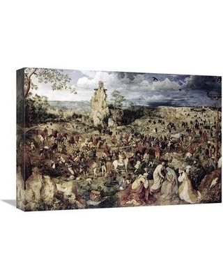 "East Urban Home 'The Procession to Calvary' Print on Canvas UBHM1249 Size: 15"" H x 22"" W x 2"" D"