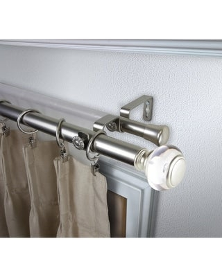 InStyleDesign Madelyn 1 inch Diameter Adjustable Double Curtain Rod