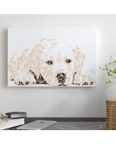 "East Urban Home 'Labrador Puppy' Graphic Art Print on Canvas EAOU2848 Size: 12"" H x 18"" W x 1.5"" D"
