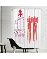House of Hampton Widnes Xmas Shoe Gifts Shower Curtain HOHN3952
