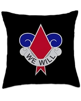 US Army 5th Infantry Division Throw Pillow, 18x18, Multicolor