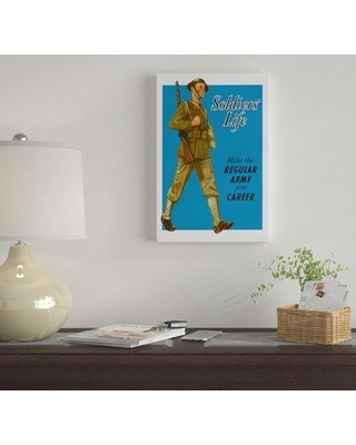 """East Urban Home 'Make the Regular Army Your Career Wartime Poster' Vintage Advertisement on Canvas UBAH9774 Size: 12"""" H x 8"""" W x 0.75"""" D"""