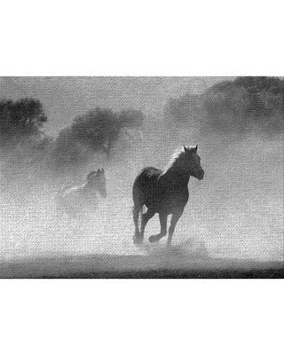 East Urban Home Horse 1 Gray Area Rug W001892666 Rug Size: Rectangle 4' x 6'