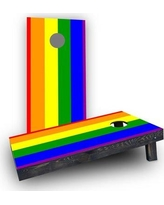 Custom Cornhole Boards Gay Pride Rainbow Flag Traditional Cornhole CCB293-C Bag Fill: Light Weight Boards with All Weather Bags
