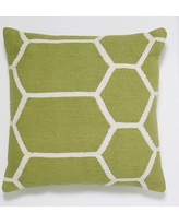India's Heritage Cotton Woven Throw Pillow INHR1381 Color: Light Green
