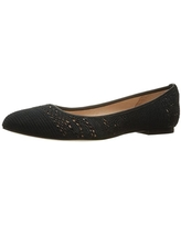 French Sole FS/NY Women's Well Ballet Flat, Black Macrome, 10 M US