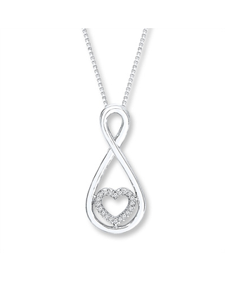 840486d5a Can't Miss Bargains on Infinity Heart Necklace 1/20 ct tw Diamonds ...