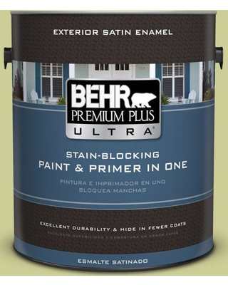 Spectacular S For Behr Premium Plus Ultra 1 Gal 400d 4 Corn Husk Green Satin Enamel Exterior Paint And Primer In One