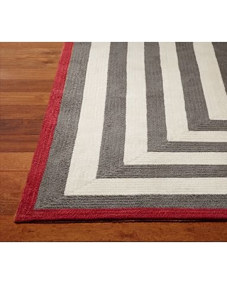 Capel Spiral Rectangle Rug 3x5' Gray and Red