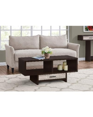 Coffee Table - Cappuccino / Taupe Reclaimed Wood-Look - Monarch Specialties I-2811
